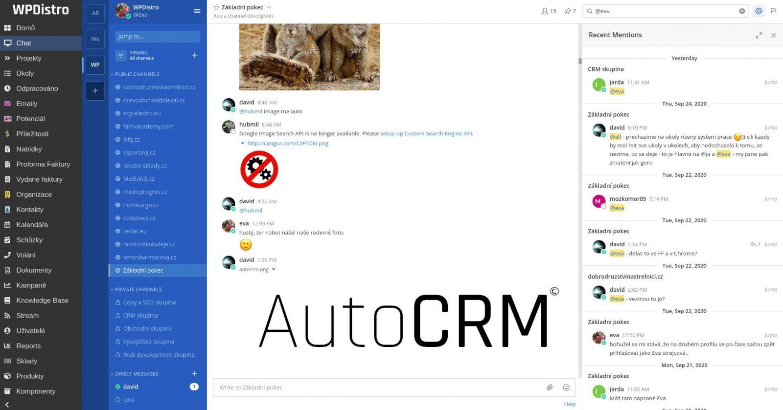Jak funguje v CRM chat a jeho funkce - AutoCRM